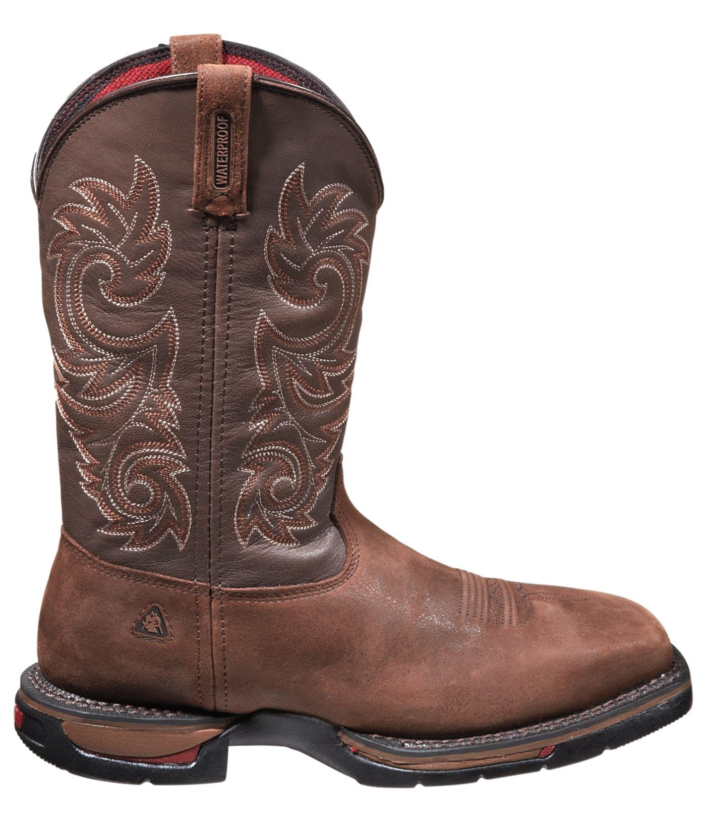 """Rocky Men's Long Range 12"""" Waterproof Steel Toe Western Work Boots"""