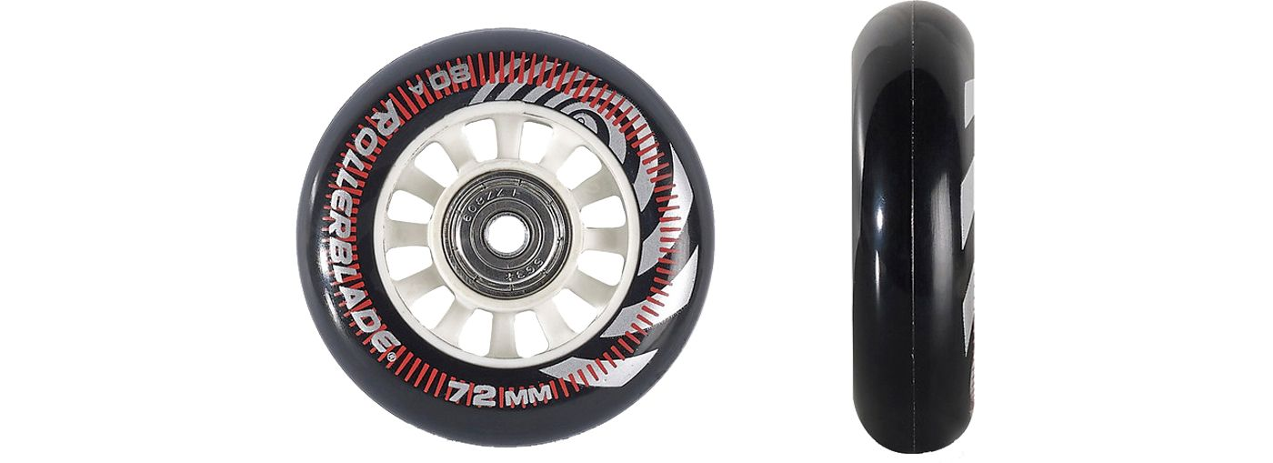 Rollerblade 72mm/80A Wheelkit