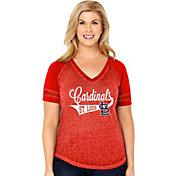 Soft As A Grape Women's St. Louis Cardinals V-Neck Shirt - Plus Size