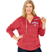 Soft As A Grape Women's Washington Nationals Red Hoodie - Plus Size