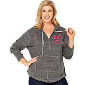 Soft As A Grape Women's Cincinnati Reds Grey Hoodie - Plus Size