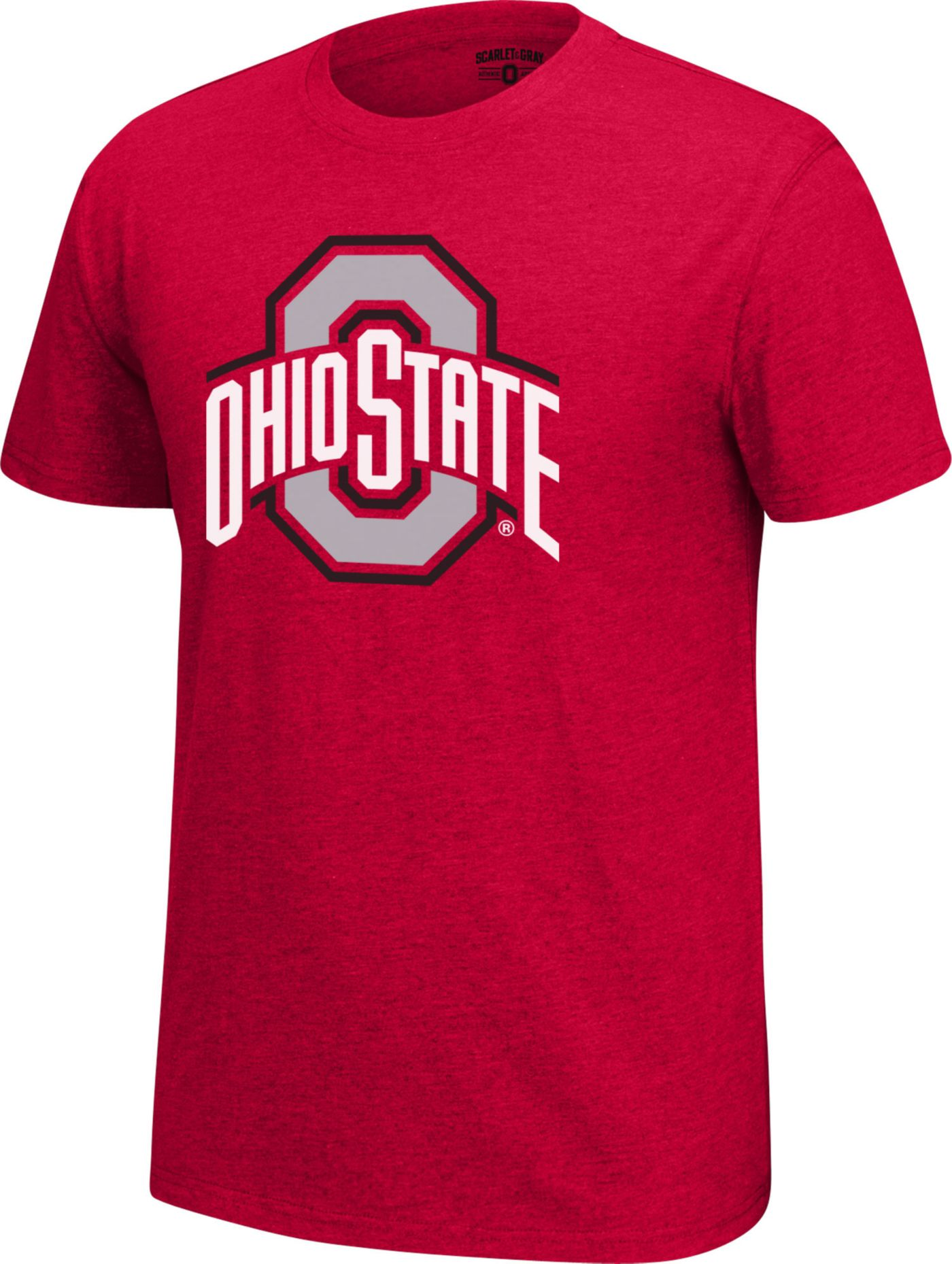 Scarlet & Gray Men's Ohio State Buckeyes Scarlet Staple T-Shirt