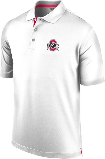 Scarlet & Gray Men's Ohio State Buckeyes White Spector Polo