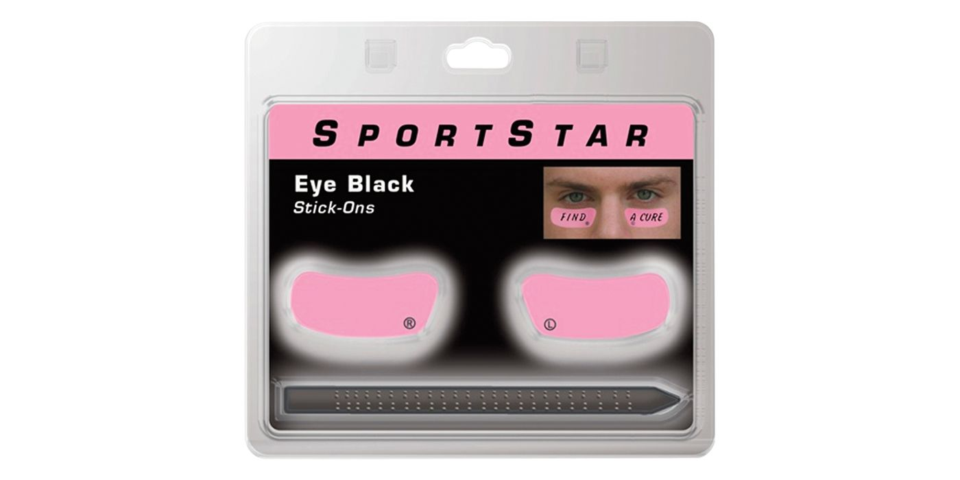 SportStar Pink Eye Black Stickers w/ Pencil