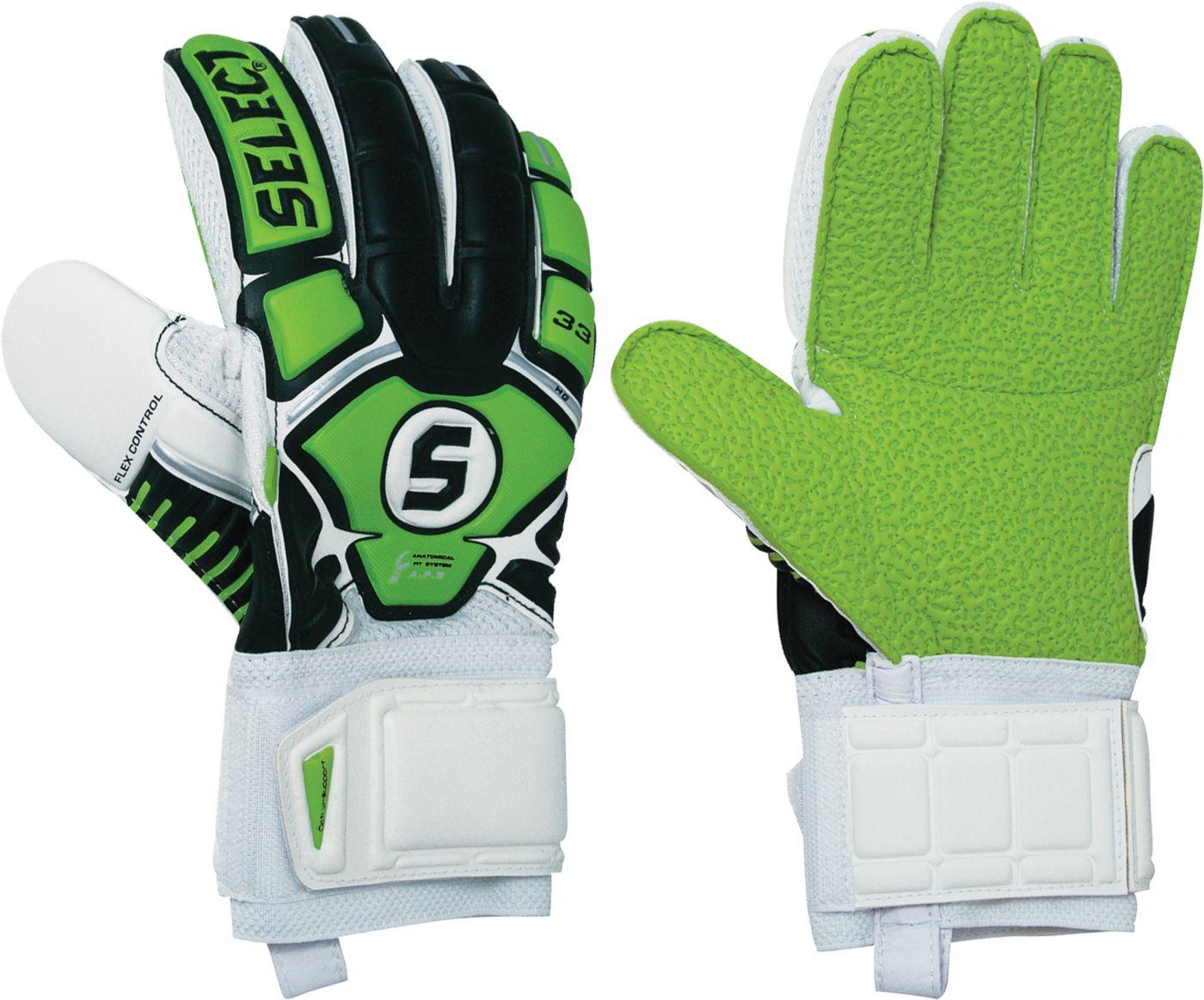 Select Adult 33 Hard Ground Soccer Goalkeeper Gloves