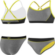 Speedo Women's Heathered Splice Clipback 2-Piece Swimsuit