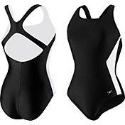 Speedo Women's Illusion Splice Ultraback Swimsuit