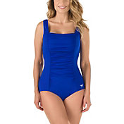 Speedo Women's Shirred Tank Swimsuit – Speedo Endurance+