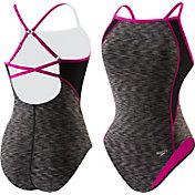 Speedo Women's Space Dye Clip Back Swimsuit