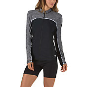 Speedo Women's Texture Zip Long Sleeve Rash Guard