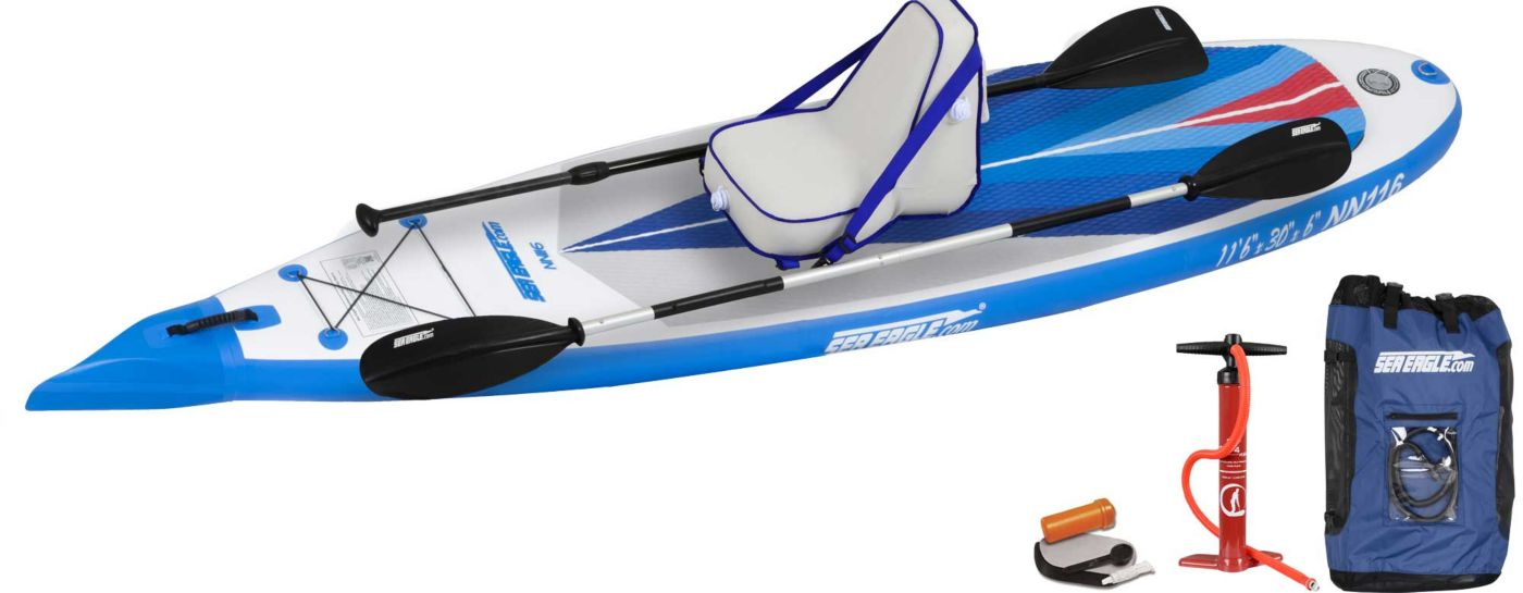 Sea Eagle NeedleNose 116 Stand-Up Inflatable Paddle Board Deluxe Package