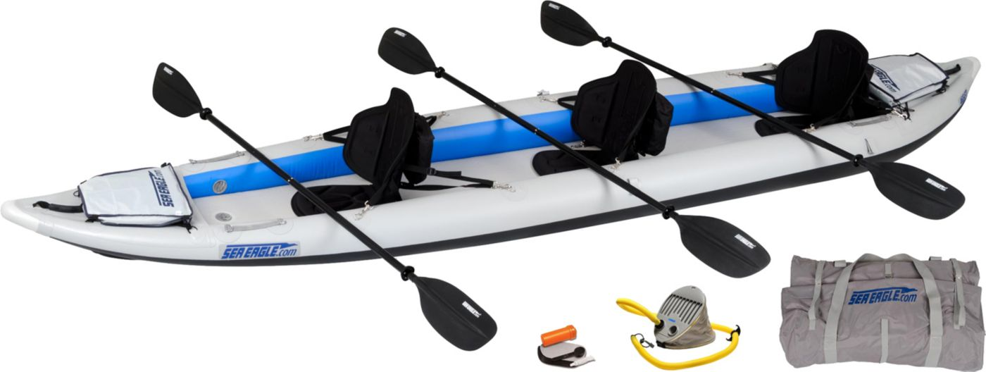 Sea Eagle 465 Fast Track Pro Tandem Inflatable Kayak Package