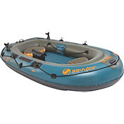 Sevylor Fish Hunter 4-Person Inflatable Boat with Berkley Rod Holder