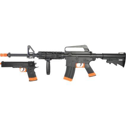 Acr Airsoft Gun soft air usa colt m4-1911 ops airsoft gun kit – black | dick's