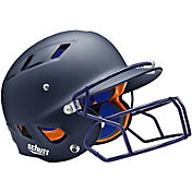 Schutt Senior Air 4.2 Matte Batting Helmet w/ Mask in Navy