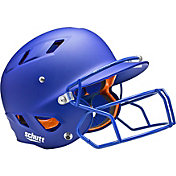 Schutt Senior Air 4.2 Matte Batting Helmet w/ Mask in Royal