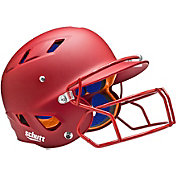 Schutt Senior Air 4.2 Matte Batting Helmet w/ Mask in Scarlet Red
