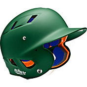 Schutt Adult Air 4.2 Matte Batting Helmet in Dark Green