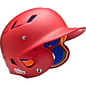 Schutt Adult Air 4.2 Matte Batting Helmet in Scarlet Red