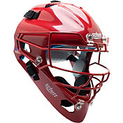 Schutt Adult Air Maxx 2966 Catcher's Helmet in Scarlet Red