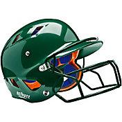 Schutt Youth Air 4.2 Batting Helmet w/ Mask in Dark Green