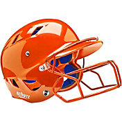 Schutt Youth Air 4.2 Batting Helmet w/ Mask in Orange