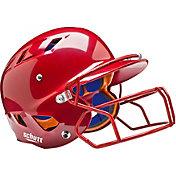Schutt Youth Air 4.2 Batting Helmet w/ Mask in Scarlet Red