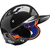 Schutt Youth Air 4.2 High Gloss Batting Helmet in Black