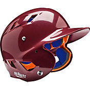 Schutt Youth Air 4.2 High Gloss Batting Helmet in Maroon