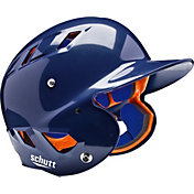 Schutt Youth Air 4.2 High Gloss Batting Helmet in Navy