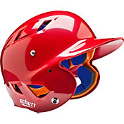 Schutt Youth Air 4.2 High Gloss Batting Helmet in Scarlet Red