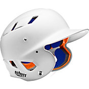 Schutt Youth Air 4.2 High Gloss Batting Helmet in White