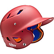 Schutt Youth 4.2 Matte Batting Helmet in Cardinal