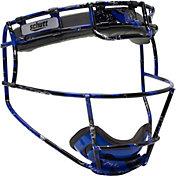 Schutt Youth Softball Patterned Fielder's Mask in Royal Blue Splash