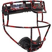 Schutt Youth Softball Patterned Fielder's Mask in Scarlet Black Splash