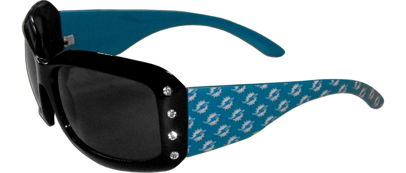 Miami Dolphins Women's Rhinestone Designer Sunglasses
