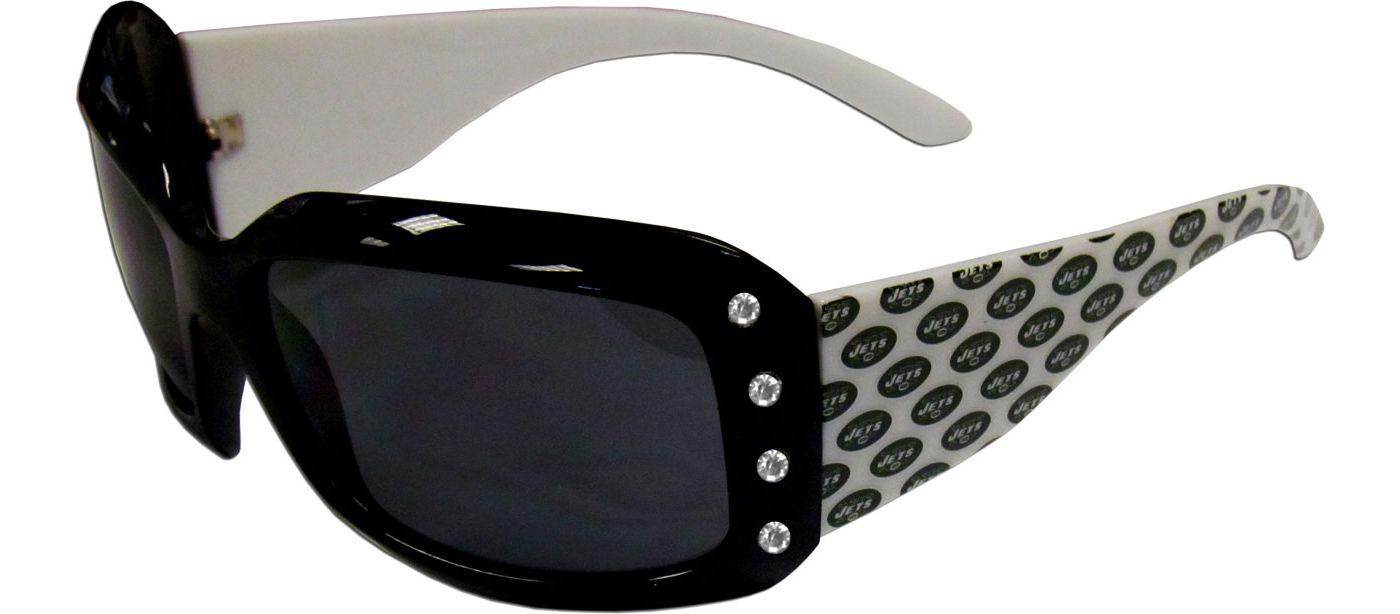 New York Jets Women's Rhinestone Designer Sunglasses