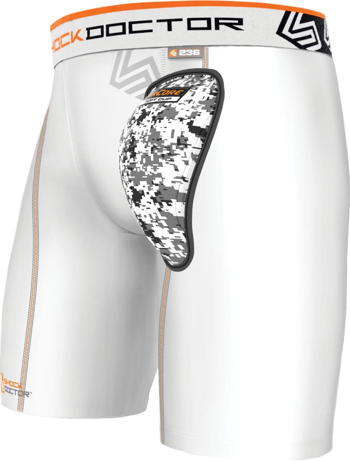 Shock Doctor Adult AirCore Compression Shorts with Soft Cup