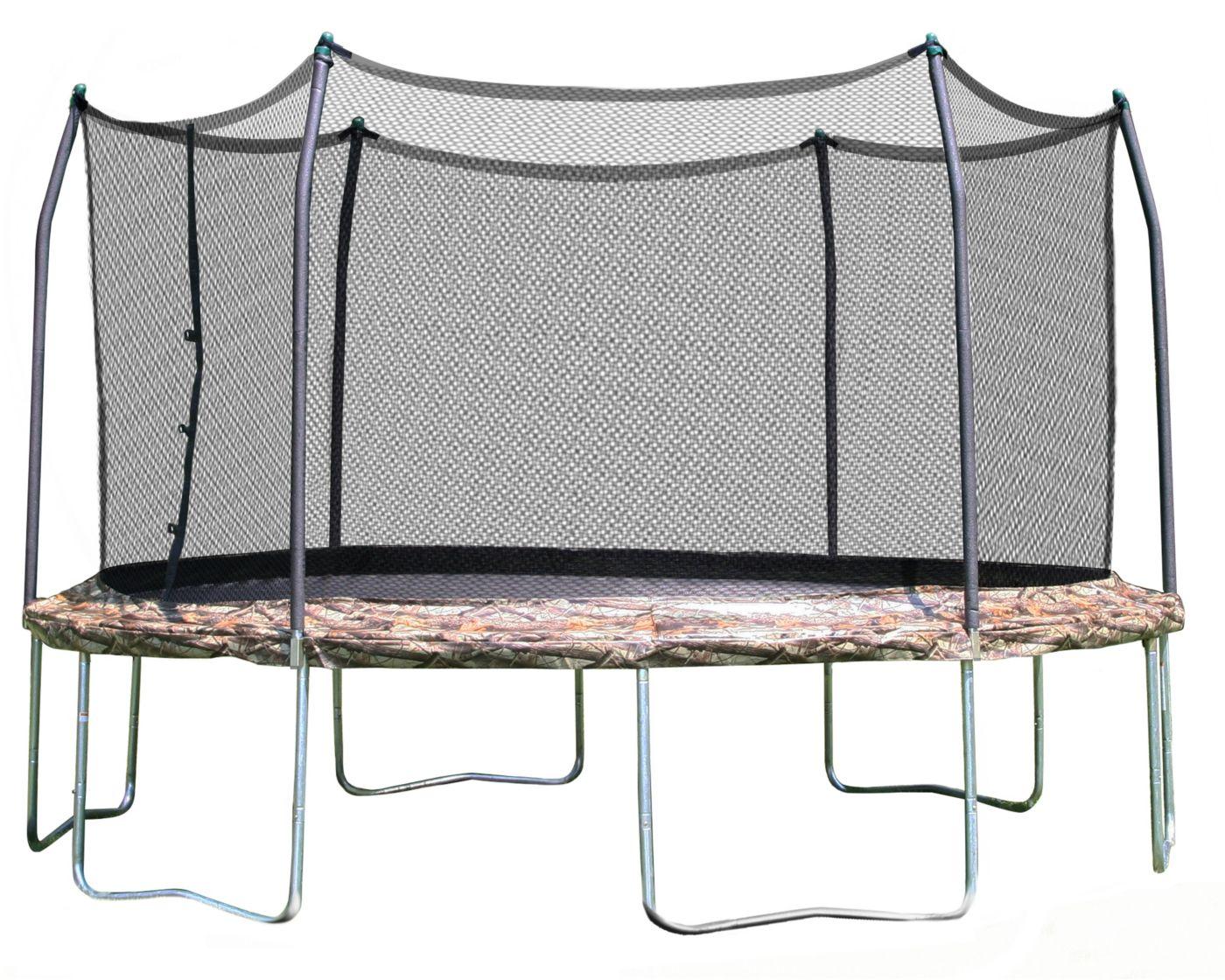 Skywalker Trampolines 15' Round Camo Trampoline with Enclosure