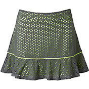 Slazenger Girls' Layered Perforated Ruffle Knit Golf Skort