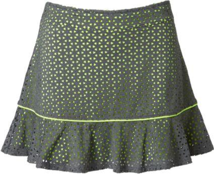 Slazenger Girls' Layered Perforated Ruffle Knit Skort