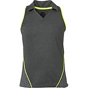 Slazenger Girls' Perforated Sleeveless Golf Polo