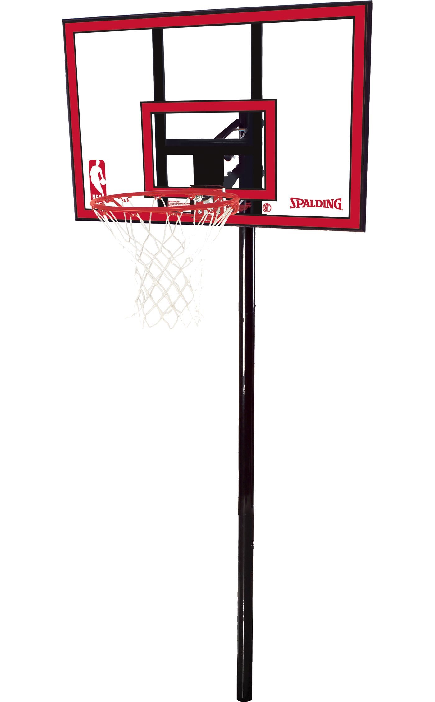 """Spalding 44"""" Polycarbonate In-Ground Basketball System"""