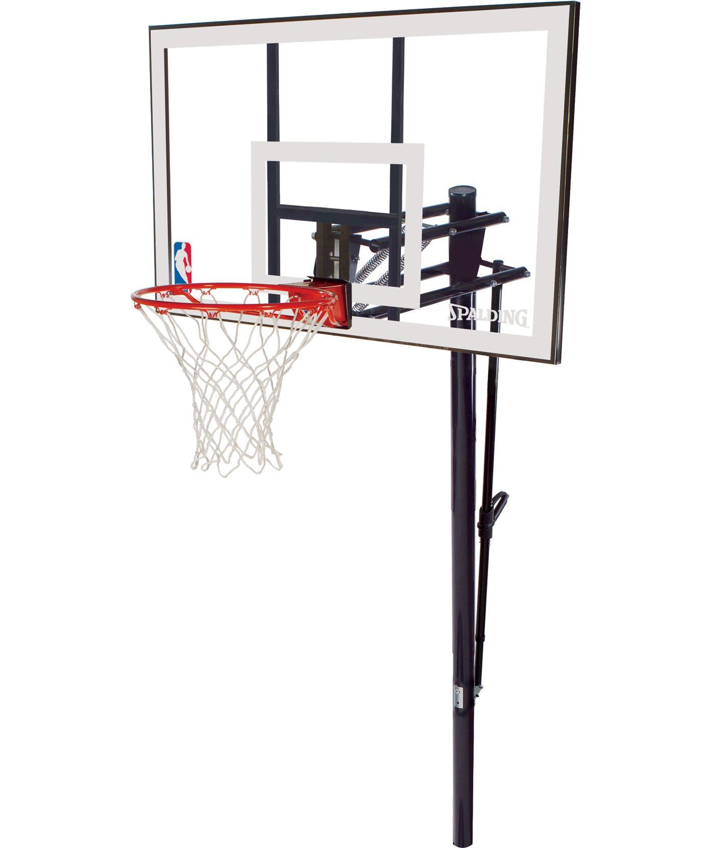 "Spalding 52"" Acrylic In-Ground Basketball Hoop"