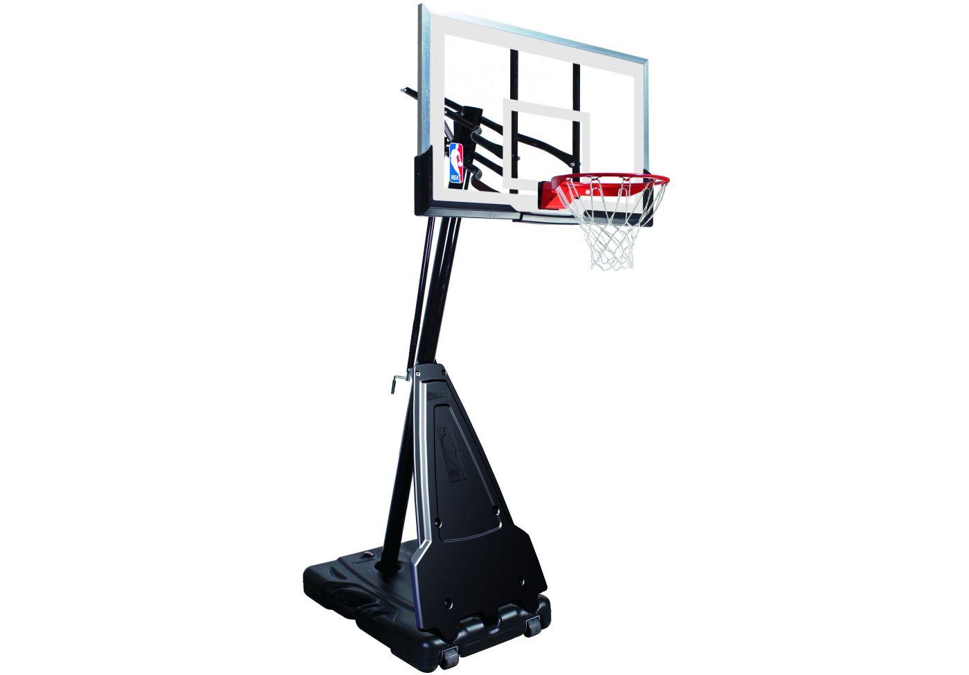 "Spalding 60"" Acrylic Portable Basketball Hoop"