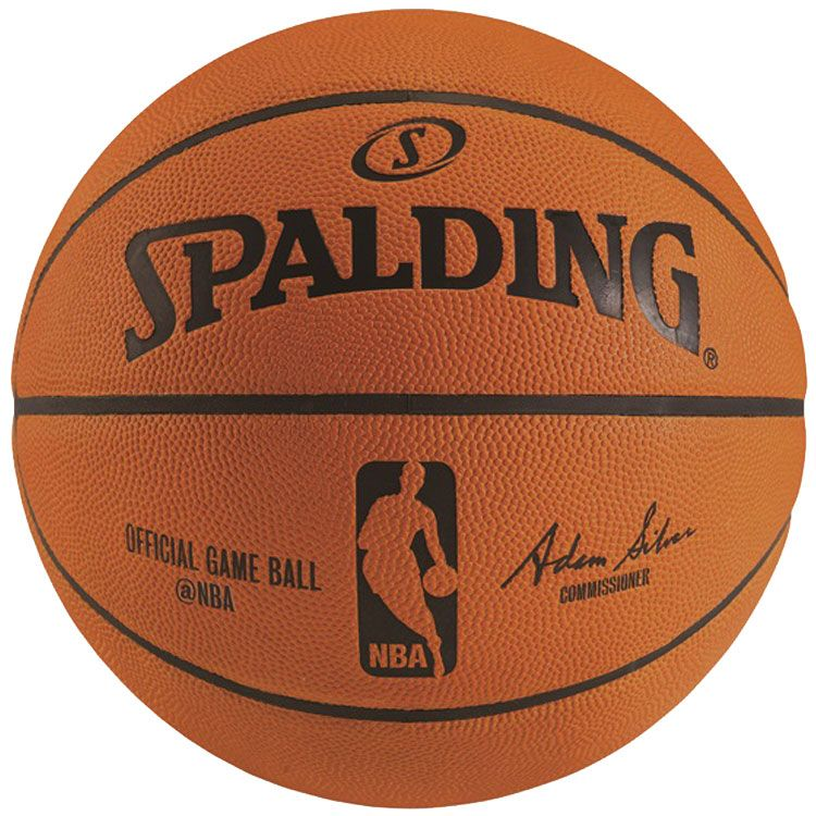 "Spalding NBA Official Game Basketball (29.5""), Kids, silver"