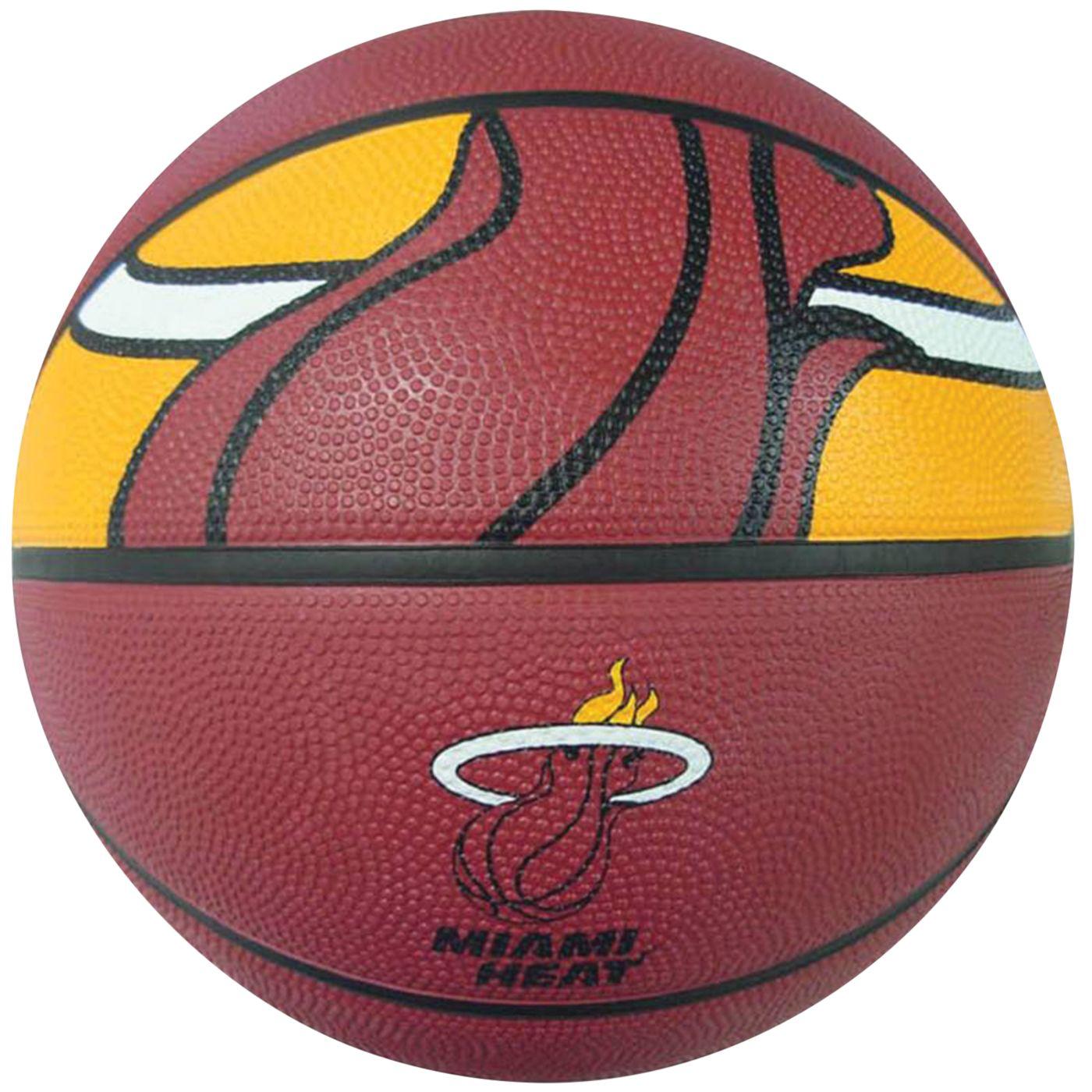 Spalding Miami Heat Full-Sized Court Side Basketball
