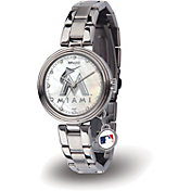 Sparo Women's Miami Marlins Charm Watch