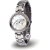 Sparo Women's Carolina Panthers Charm Watch