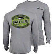 Salt Life Men's Life In The Cast Lane Camo SLX UVapor Performance Long Sleeve Shirt